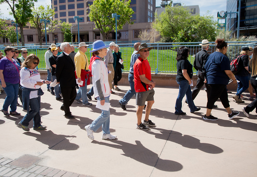 Good Friday, Urban Way of the Cross, Downtown Albuquerque, April 14, 2017. (Marla Brose/Albuquerque Journal)