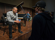 Jason Moran performs and talks with students at HSPVA, February 3, 2015.