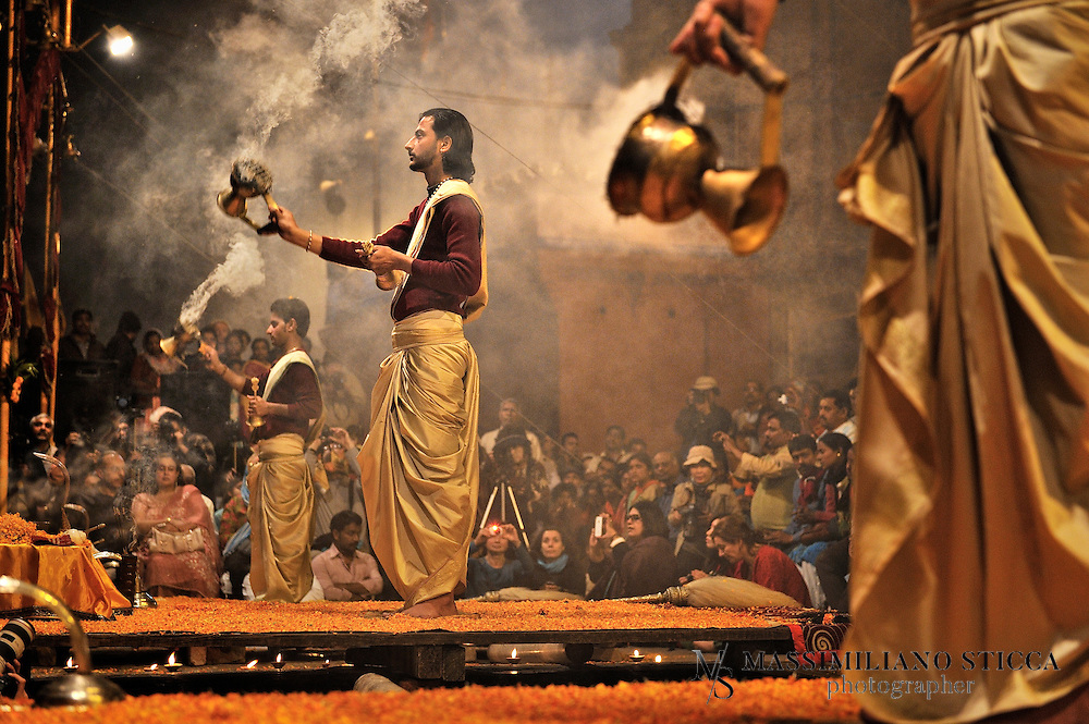 The burning of dhoop incense and waving them in an elaborate synchronized manner in all the directions.<br /> The main purpose of these rituals is one of purification. The rituals involve a consecrated fire and they remove the persons various sins which are known as papa. <br /> The Dhoopa incense is burnt to create a meditative atmosphere which allows for spiritual contemplation. It works in a very similar way to the fire ceremonies which have been a major part of Hinduism for thousands of years