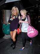 02.SEPTEMBER.2009 - LONDON<br /> <br /> POP STAR PIXIE LOTT ARRIVING AT THE SAVOY THEATRE WITH FRIENDS TO WATCH DREAMBOATS AND PETTICOATES AND THEN HEADED HOME ON THE TRAIN FROM KINGS CROSS STATION BUT STOPPED OFF AT UPPERCRUST TO GRAB A BAGUETTE FOR HER JOURNEY HOME.<br /> <br /> BYLINE MUST READ : EDBIMAGEARCHIVE.COM<br /> <br /> *THIS IMAGE IS STRICTLY FOR UK NEWSPAPERS & MAGAZINES ONLY*<br /> *FOR WORLDWIDE SALES & WEB USE PLEASE CONTACT EDBIMAGEARCHIVE - 0208 954-5968*