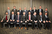 Top table at DundeeFC Hall of Fame at the Apex Hotel - Back row left to right: John Brown (master of ceremonies), John Nelms (Dundee FC Managing Director), Bill Colvin (Dundee FC Chairman), Steve Martin (Dundee FC Commercial Director), Bob Hynd (Dundee FC Director), Colin Reid (Dundee FC Director), John Brown (Dundee FC Commercial Dept'), Jim Thomson (Dundee FC General Manager), - Front Row left to right: Paul Hartley (Dundee FC Manager), Richard Kilcullen (of sponsors Kilmac), John Duncan (inductee), James Grady (inductee), Julian Speroni (inductee), Ron Mitchell (of sponsors Intona), Doug Robertson (of sponsors Crown Engineering), Tosh McKinlay (Main speaker)<br /> <br />  - &copy; David Young - www.davidyoungphoto.co.uk - email: davidyoungphoto@gmail.com
