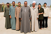 Seven members of the local community group in Deir el Maymoun, Egypt. Local community groups who are  'light touch' support can make a real difference to closing the gap between the most disadvantaged communities and the rest of society.