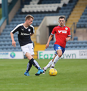 Dundee's Calvin Colquhoun and Wigan's Ryan Jennings - Dundee v Wigan Athletic - pre season friendly at Dens Park<br /> <br />  - &copy; David Young - www.davidyoungphoto.co.uk - email: davidyoungphoto@gmail.com