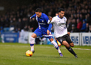 Gillingham defender Bradley Garmston takes on Bury midfielder Jacob Mellis during the Sky Bet League 1 match between Gillingham and Bury at the MEMS Priestfield Stadium, Gillingham, England on 14 November 2015. Photo by David Charbit.