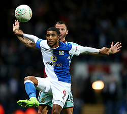 Dominic Samuel of Blackburn Rovers is challenged by Burnley's Phil Bardsley - Mandatory by-line: Matt McNulty/JMP - 23/08/2017 - FOOTBALL - Ewood Park - Blackburn, England - Blackburn Rovers v Burnley - Carabao Cup - Second Round