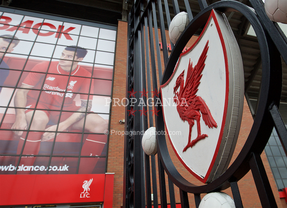 LIVERPOOL, ENGLAND - Sunday, November 29, 2015: A view of the Paisley Gates at Anfield before the Premier League match between Liverpool and Swansea City. (Pic by David Rawcliffe/Propaganda)
