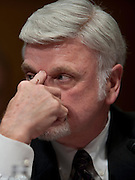 May 20, 2010 - Washington, District of Columbia, U.S., - Cecil Roberts, international president of United Mine Workers of America appears before a Senate Appropriations Committee hearing on Mine Safety Investment on Thursday.(Credit Image: © Pete Marovich/ZUMA Press)
