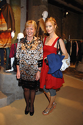 Left to right, KATE BOSTOCK head of womenswear at M&S and model LAURA BAILEY at a priavte view of Marks & Spencer's Autumn Winter collection 2007 held at One The Piazza, Covent Garden, London on 24th May 2007.<br />