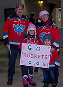 KELOWNA, CANADA - DECEMBER 30:  Fans at the Kelowna Rockets game on December 30, 2017 at Prospera Place in Kelowna, British Columbia, Canada.  (Photo By Cindy Rogers/Nyasa Photography,  *** Local Caption ***