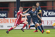 10th August 2019; Dens Park, Dundee, Scotland; SPFL Championship football, Dundee FC versus Ayr; Finlay Robertson of Dundee and Alan Forrest of Ayr United