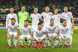 March 21, 2019 - Vienna, Austria - The Polish national football team poses for a photo during the UEFA European Qualifiers 2020 match between Austria and Poland at Ernst Happel Stadium in Vienna, Austria on March 21, 2019  (Credit Image: © Andrew Surma/NurPhoto via ZUMA Press)