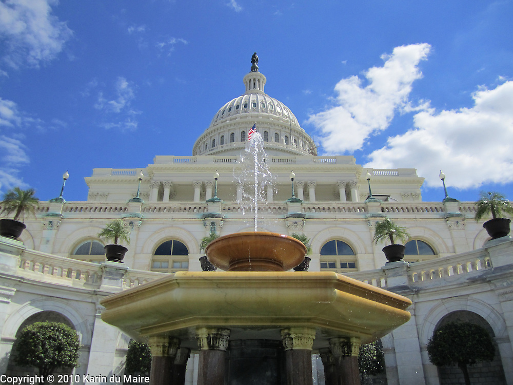 Fountain at the US Capitol in Washington, DC. Different angle!