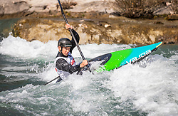 Polencic Vid (KK Soske elektrarne / Slovenia) during ICF Canoe Slalom Ranking Race Tacen 2018, on April 8, 2018 in Ljubljana, Slovenia. Photo by Urban Meglic / Sportida