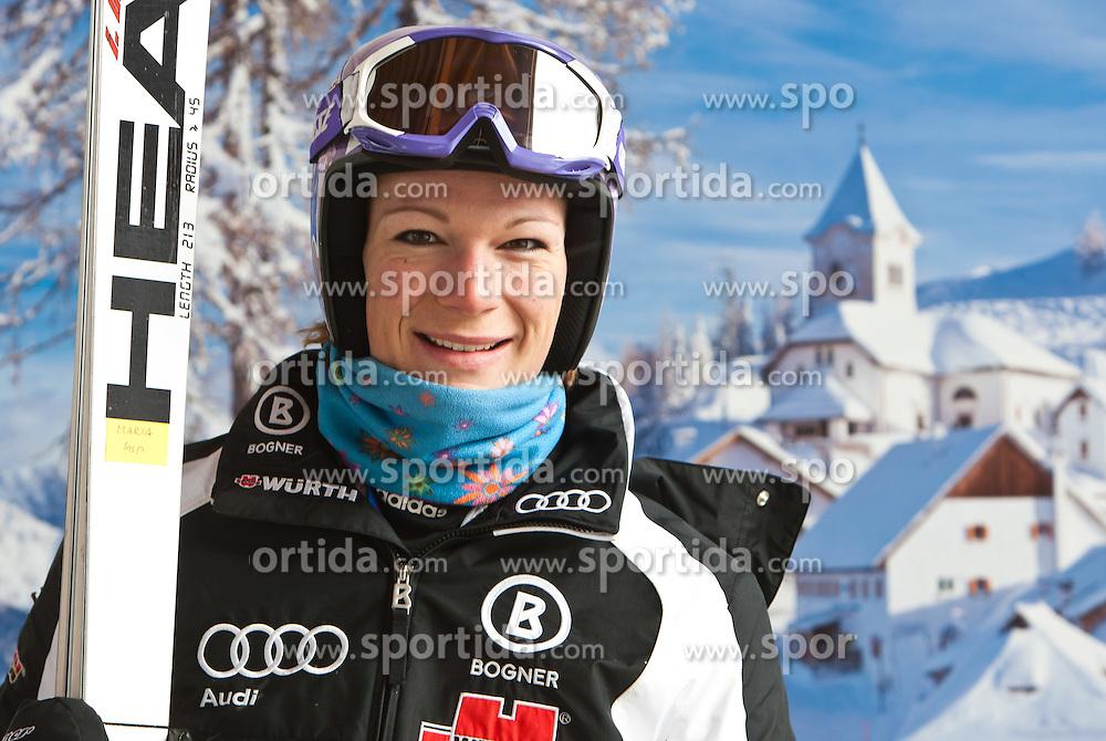 02.03.2011, Pista di Prampero, Tarvis, ITA, FIS Weltcup Ski Alpin, 1. Abfahrtstraining der Damen, im Bild, Maria Riesch (GER) // Maria Riesch (GER) during Ladie's Downhill Training, FIS World Cup Alpin Ski in Tarvisio Italy on 2/3/2011. EXPA Pictures © 2010, PhotoCredit: EXPA/ J. Groder