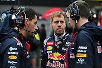 Sebastian Vettel (GER) Red Bull Racing on the grid.<br /> Japanese Grand Prix, Sunday 5th October 2014. Suzuka, Japan.