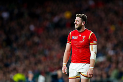 Wales Winger Alex Cuthbert looks frustrated - Mandatory byline: Rogan Thomson/JMP - 07966 386802 - 17/10/2015 - RUGBY UNION - Twickenham Stadium - London, England - South Africa v Wales - Rugby World Cup 2015 Quarter Finals.