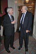 HUGO VICKERS AND CLAUS VON BULOW, Literary Review's Bad Sex In Fiction Prize.  In & Out Club (The Naval & Military Club), 4 St James's Square, London, SW1, 29 November 2006. <br />