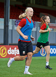 NEWPORT, WALES - Monday, September 2, 2019: Wales' Elise Hughes during a training session at Rodney Parade ahead of the UEFA Women Euro 2021 Qualifying Group C match against Northern Ireland. (Pic by David Rawcliffe/Propaganda)