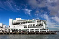 The Hilton Auckland, located on Princes Wharf, Waitemata Harbour, Auckland, New Zealand