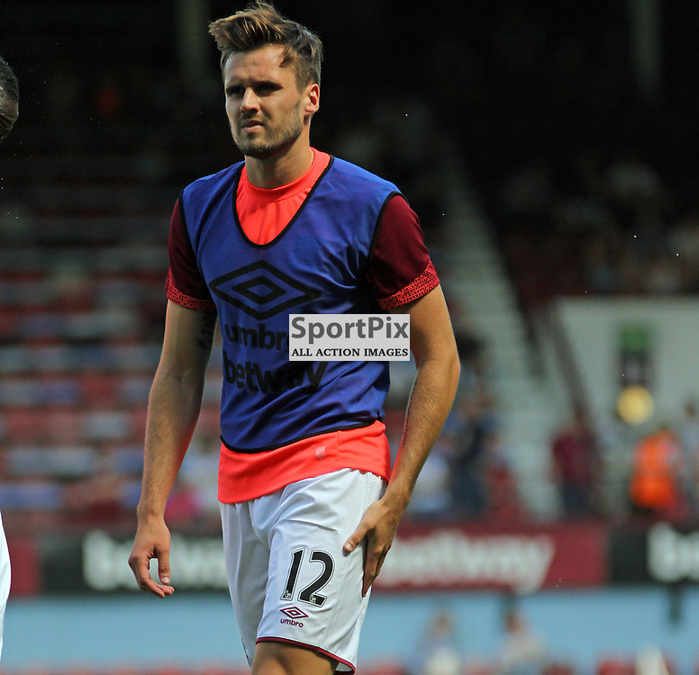 Carl Jenkinson before West Ham United vs Bournemouth FC on Saturday the 22nd August 2015