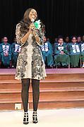 Gospel singer and Atherton Elementary alumna Yolanda Adams sings during the school dedication.