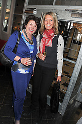Left to right, sisters ISOBEL, COUNTESS OF STRATHMORE and CATHERINE SOAMES at a ladies lunch in support of Maggie's Barts hosted by Judy Naake, Clara Weatherall and Caroline Collins at Le Cafe Anglais, 8 Porchester Gardens, London W2 on 19th March 2013.