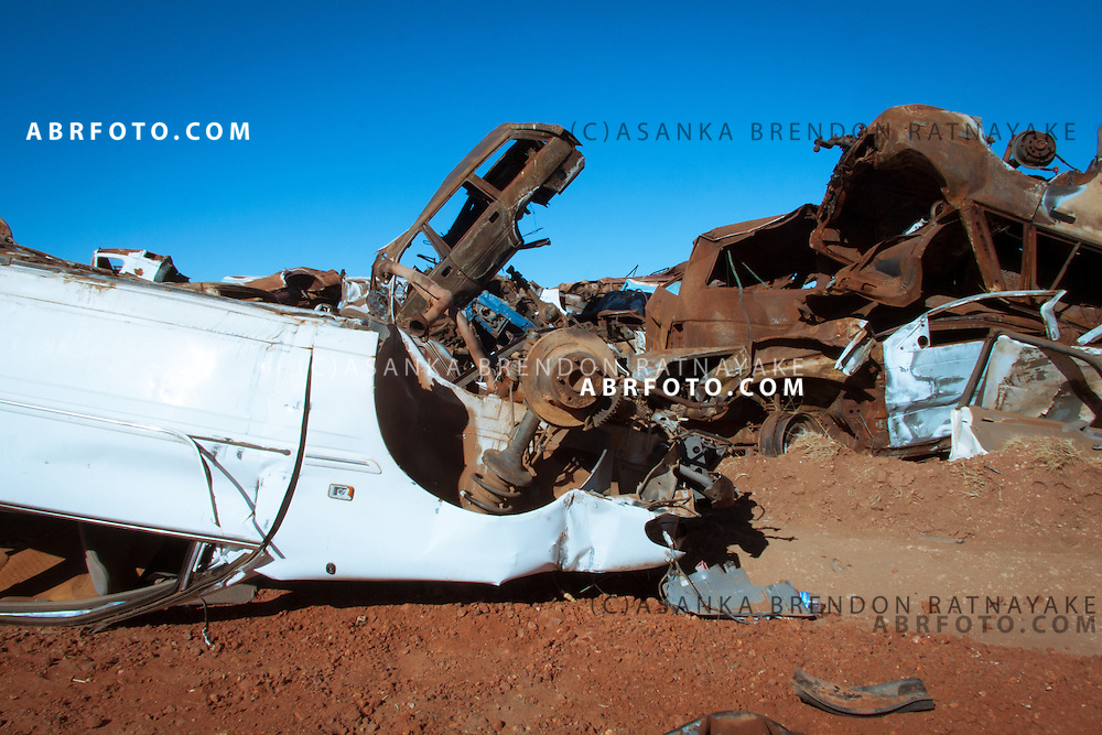 A car grave yard in rural Australia