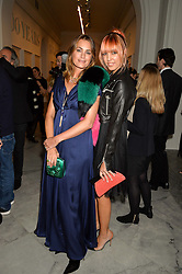 Left to right, YASMIN LE BON and AMBER LE BON at the Alexandra Shulman and Leon Max hosted opening of Vogue 100: A Century of Style at The National Portrait Gallery, London on 9th February 2016.