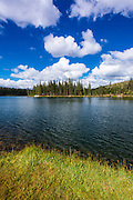 Elizabeth Lake, Tuolumne Meadows, Yosemite National Park, California USA