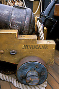 """Cannon on the H.M.S. Surprise at the San Diego Maritime Museum (from the film """"Master and Commander""""), San Diego, California"""