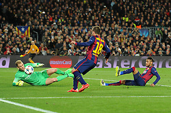 Barcelona's Jordi Alba's goal is disallowed for offside - Photo mandatory by-line: Dougie Allward/JMP - Mobile: 07966 386802 - 18/03/2015 - SPORT - Football - Barcelona - Nou Camp - Barcelona v Manchester City - UEFA Champions League - Round 16 - Second Leg