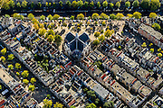 Nederland, Noord-Holland, Amsterdam, 27-09-2015; Jordaan met Noordermarkt en Noorderkerk. Prinsengracht boven in beeld, Lindengracht links.<br /> Northern Market square, Jordaan neigbourhood.<br /> <br /> luchtfoto (toeslag op standard tarieven);<br /> aerial photo (additional fee required);<br /> copyright foto/photo Siebe Swart