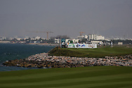 Rasmus Hojgaard (DEN) on the 18th during Round 4 of the Oman Open 2020 at the Al Mouj Golf Club, Muscat, Oman . 01/03/2020<br /> Picture: Golffile | Thos Caffrey<br /> <br /> <br /> All photo usage must carry mandatory copyright credit (© Golffile | Thos Caffrey)