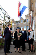 Her Majesty the queen is presnt at the start of the fourth international Polar Year in the Netherlands in the nature museum Fryslan.