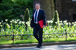 © Licensed to London News Pictures. 15/05/2018. London, UK. Secretary of State for International Trade Liam Fox arrives on Downing Street for the Cabinet meeting. Photo credit: Rob Pinney/LNP