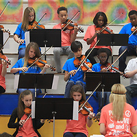 The Milam School orchestra preforms for those in attendance at the AEE luncheon Friday in Tupelo.