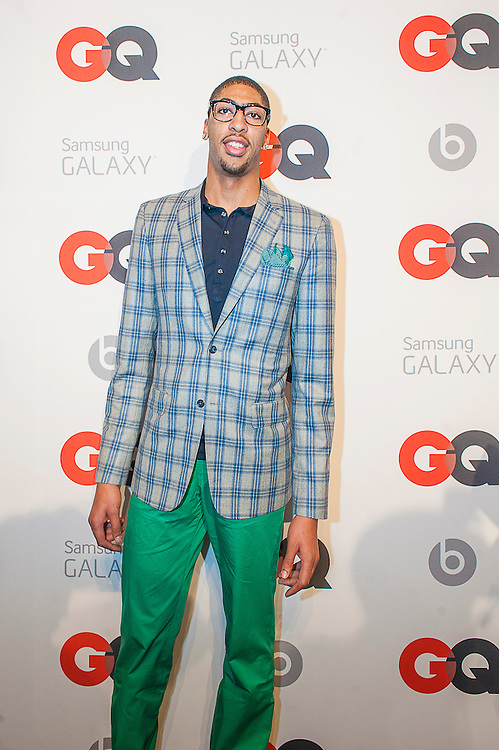 NBA Player Anthony Davis ( New Orleans Pelicans) posing at the GQ & Lebron James NBA All Star Style party sponsored by Samsung Galaxy on Saturday, February 15, 2014, at the Ogden Museum of Southern Art in New Orleans, Louisiana with live jam session from grammy Award-winning Artist The Roots. Photo Credit: Gustavo Escanelle / Retna Ltd.