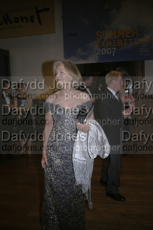 ANNA FORD, Royal Academy Annual Dinner. Piccadilly. London. 5 June 2007.  -DO NOT ARCHIVE-© Copyright Photograph by Dafydd Jones. 248 Clapham Rd. London SW9 0PZ. Tel 0207 820 0771. www.dafjones.com.