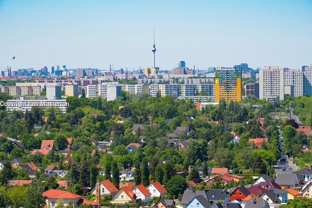 Skyline of Berlin from IFA 2017 International Garden Festival (International Garten Ausstellung) in Berlin, Germany