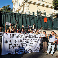 Manifestazione per il fotoreporter Daniele Stefanini