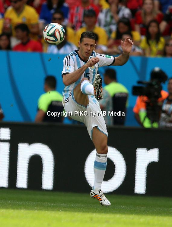 Fifa Soccer World Cup - Brazil 2014 - <br /> ARGENTINA (ARG) Vs. BELGIUM (BEL) - Quarter-finals - Estadio Nacional Brasilia -- Brazil (BRA) - 05 July 2014 <br /> Here Argentine player Martin Demichelis<br /> &copy; PikoPress
