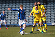 Andy Cannon during the EFL Sky Bet League 1 match between Rochdale and AFC Wimbledon at Spotland, Rochdale, England on 17 March 2018. Picture by Daniel Youngs.
