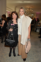 Left to right, ZILDA COLLINS and her daughter  CLAUDINE COLLINS Managing Director, MediaCom UK at the Future Dreams 'United For Her' Ladies Lunch 2016 held at The Savoy, London on 10th October 2016.