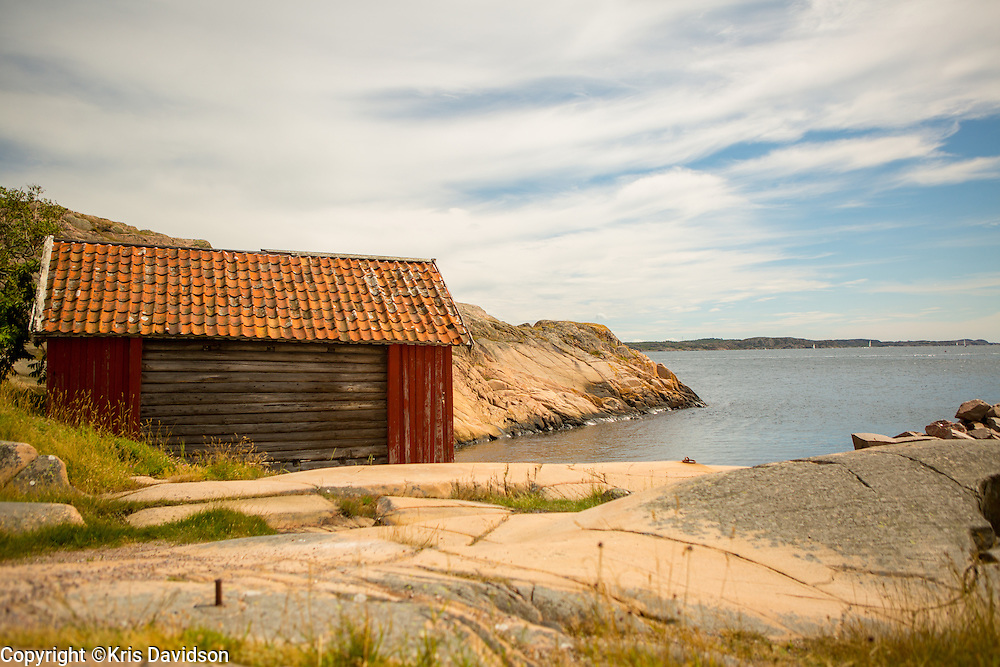 Barn by the sea in the picturesque coastal town of Lysekil on Sweden's west coast.