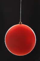 Red Christmas bauble close-up