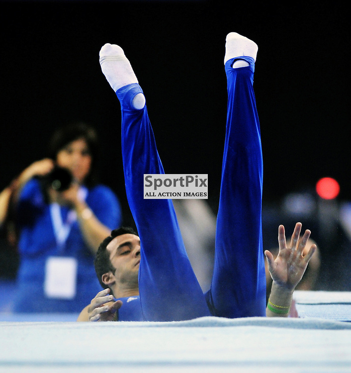 Danell Leyva (USA)..World Cup Gymnastics, Emirates Arena, Saturday 8th December 2012..Alex Todd | Stockpix.eu