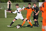 - Grove (white) v. St.John's (tangerine) in the U17 George Grant Memorial Trophy Final (sponsored by DFCSS) at Whitton Park, Dundee, Photo: David Young<br /> <br />  - &copy; David Young - www.davidyoungphoto.co.uk - email: davidyoungphoto@gmail.com