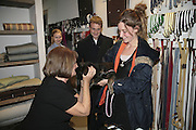 LADY ANNABEL GOLDSMITH, BEN GOLDSMITH AND KATE GOLDSMITH, ' Copper: A Dog's Life' Lady Annabel Goldsmith book signing. Mungo and Maud, Elizabeth St. London. 20 February 2007.   -DO NOT ARCHIVE-© Copyright Photograph by Dafydd Jones. 248 Clapham Rd. London SW9 0PZ. Tel 0207 820 0771. www.dafjones.com.