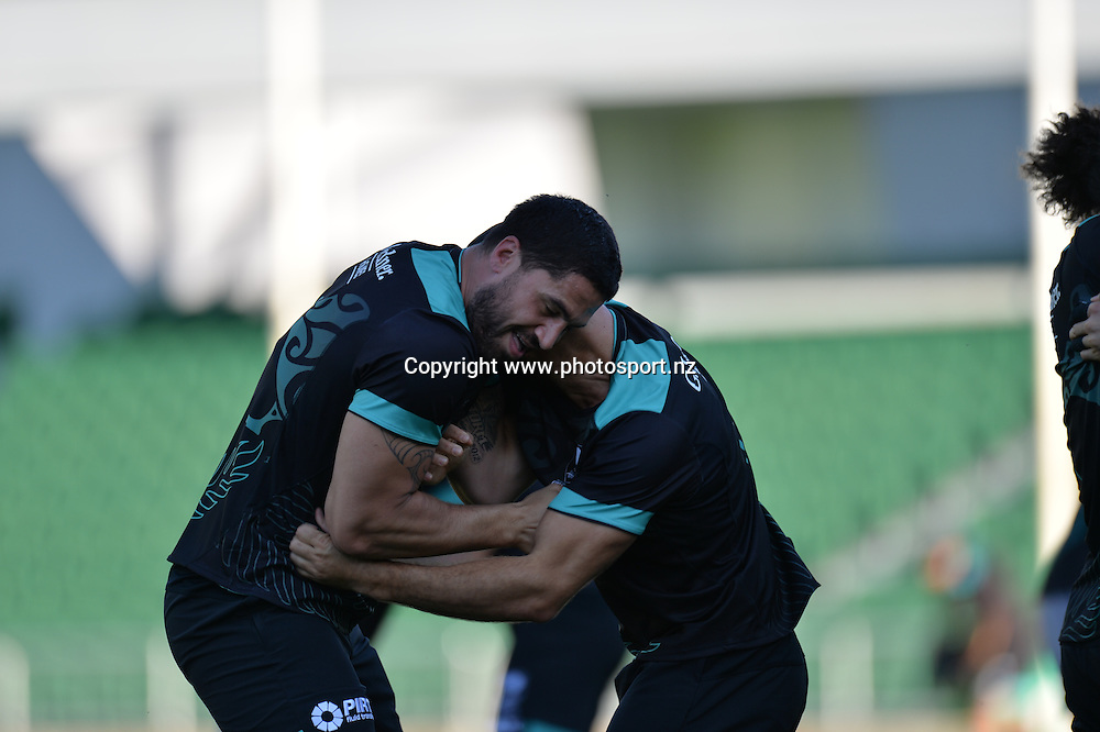 Jesse Bromwich (c) New Zealand Kiwis rugby league training session, NIB Stadium, Perth, Australia. 12 October 2016 <br /> Credit: Johan Schmidt / www.photosport.nz<br /> Copyright: www.photosport.nz