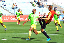 May 12, 2017 - Rades, Tunisia - Fakhreddine Ben Youssef of  (EST)and the Bangala Yannick (L) of Vita club during the First day of the group stage of the Champions League  2017 Total  between Esperance Sportive de Tunis (EST) and the formation of AS Vita Club (RD Congo) at the Rades stadium..The Esperance Sportive de Tunis (EST) won by 3/1. (Credit Image: © Chokri Mahjoub via ZUMA Wire)